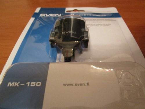 Микрофон Sven mk-150 внешний вид в коробке упаковке