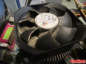 Забитый пылью Кулер охлаждение процессора