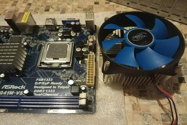 Материнская плата процессор и кулер охлаждения