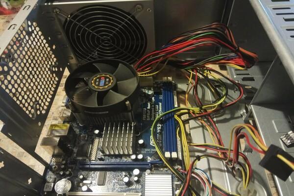 Сборка компьютера на 775 сокете монтаж