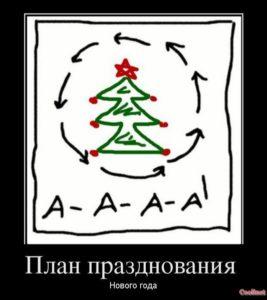 План празднования Нового года