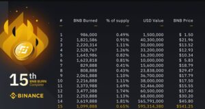BNB Burn by Binance