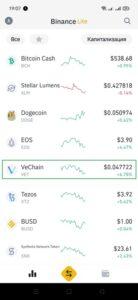 Как купить криптовалюту VeChain (VET)