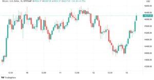 BTC/USD 1-часовой свечной график (Bitstamp)